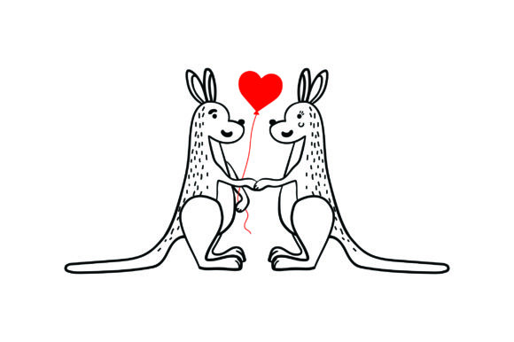 Download Free Lover Kangaroos Svg Cut File By Creative Fabrica Crafts for Cricut Explore, Silhouette and other cutting machines.