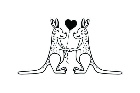 Lover Kangaroos Valentine's Day Craft Cut File By Creative Fabrica Crafts - Image 2