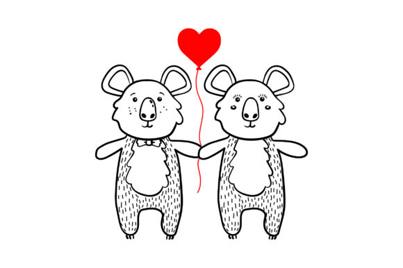 Lover Koalas Valentine's Day Craft Cut File By Creative Fabrica Crafts