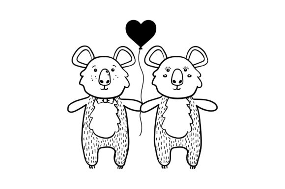 Lover Koalas Valentine's Day Craft Cut File By Creative Fabrica Crafts - Image 2