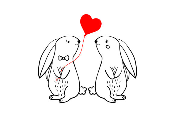 Lover Rabbits San Valentín Archivo de Corte Craft Por Creative Fabrica Crafts