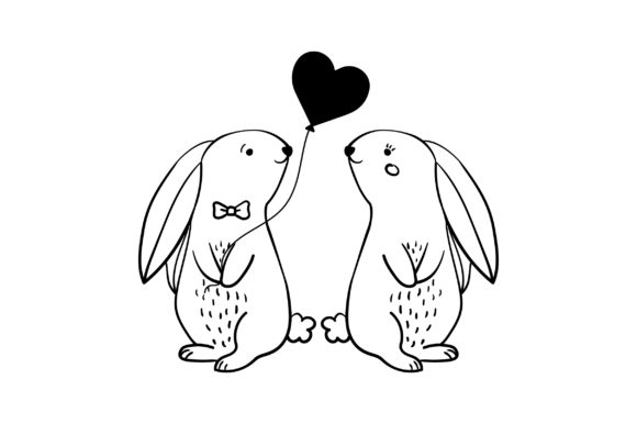 Lover Rabbits Valentine's Day Craft Cut File By Creative Fabrica Crafts - Image 2