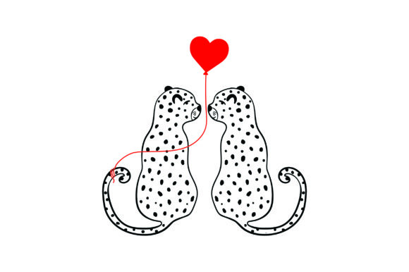 Lover Leopards Valentine's Day Craft Cut File By Creative Fabrica Crafts