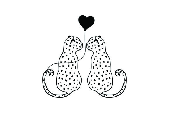 Lover Leopards Valentine's Day Craft Cut File By Creative Fabrica Crafts - Image 2