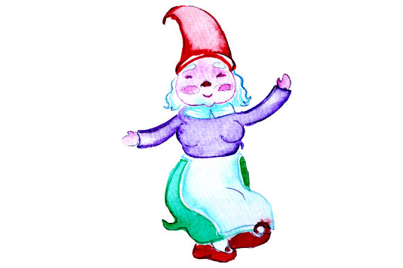 Gnome Dancing in Watercolor Style Designs & Drawings Craft Cut File By Creative Fabrica Crafts