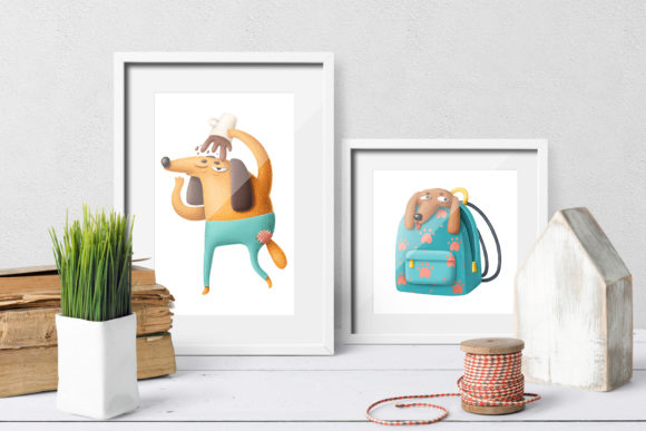 Print on Demand: Cartoon Dog Characters Graphic Illustrations By Architekt_AT - Image 2