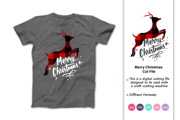 Print on Demand: Reindeer Merry Christmas Graphic Crafts By iprintasty