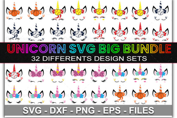 Print on Demand: Unicorn SVG Bundle Graphic Print Templates By DesignSmile