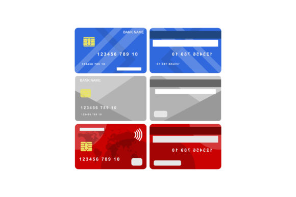 Print on Demand: Credit and Debit Card Graphic Graphic Templates By sabavector