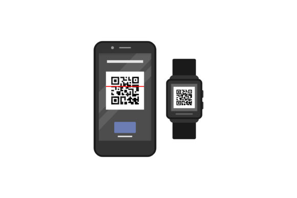 Print on Demand: Smart Watch and Smart Phone Graphic Graphic Templates By sabavector