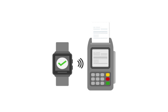 Print on Demand: Contactless Payment Graphic Graphic Templates By sabavector
