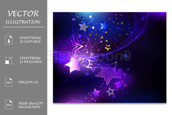 Violet Star Graphic Illustrations By Blackmoon9
