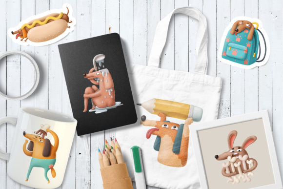 Print on Demand: Cartoon Dog Characters Graphic Illustrations By Architekt_AT - Image 3