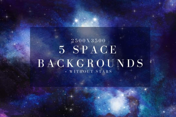 Print on Demand: Watercolor Space, Cosmos Graphic Set Graphic Illustrations By kaleriiatv - Image 4