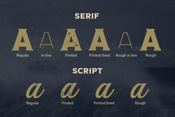 Print on Demand: Captain Nelson Display Font By Pasha Larin - Image 3