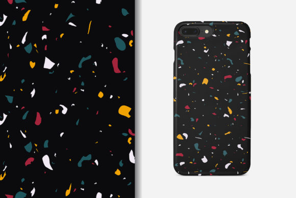 Download Free Terrazzo Seamless Pattern Graphic By Kroljastock Creative Fabrica for Cricut Explore, Silhouette and other cutting machines.