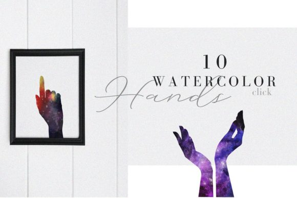 Print on Demand: Watercolor Space, Cosmos Graphic Set Graphic Illustrations By kaleriiatv - Image 6