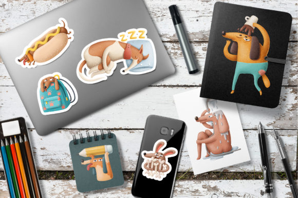 Print on Demand: Cartoon Dog Characters Graphic Illustrations By Architekt_AT - Image 4