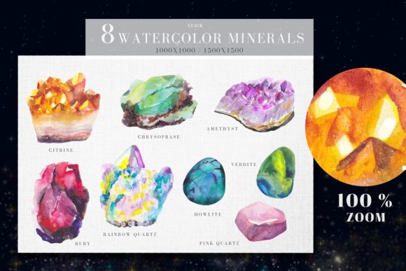 Print on Demand: Watercolor Space, Cosmos Graphic Set Graphic Illustrations By kaleriiatv - Image 8