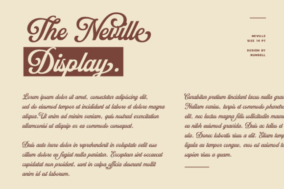 Print on Demand: Neville Display Font By Runsell Graphic - Image 7