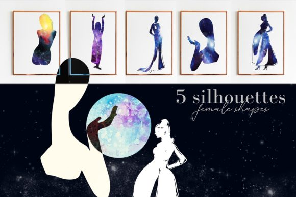 Print on Demand: Watercolor Space, Cosmos Graphic Set Graphic Illustrations By kaleriiatv - Image 10
