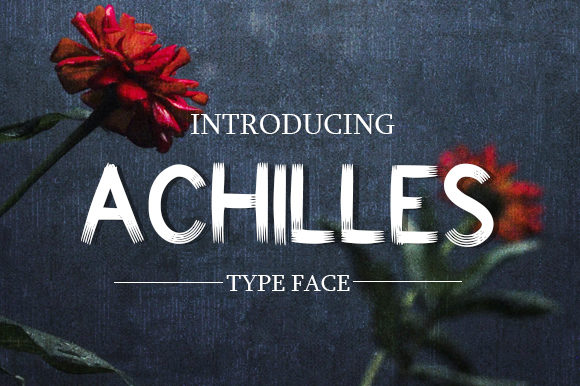 Print on Demand: Achilles Sans Serif Font By JM_Graphics