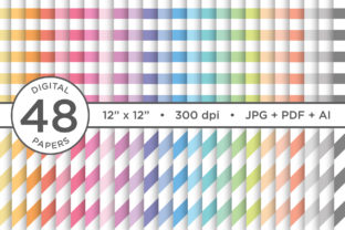 Print on Demand: Rainbow Pastel Seamless Stripes Pattern Graphic Patterns By Running With Foxes 1