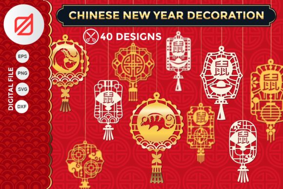 Print on Demand: Chinese New Year Decorations Graphic Crafts By illusatrian