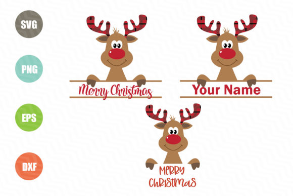 Download Free Christmas Reindeer Graphic By Logotrain034 Creative Fabrica for Cricut Explore, Silhouette and other cutting machines.