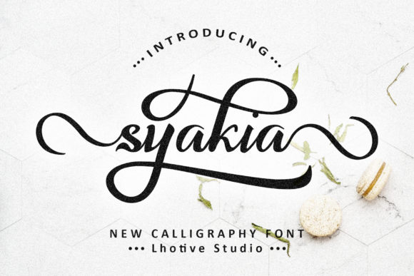Print on Demand: Syakia Script & Handwritten Font By lhotive