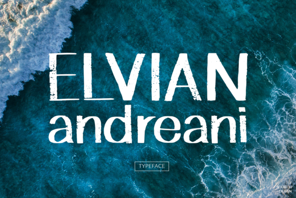 Print on Demand: Elvian Andreani Script & Handwritten Font By Scratch Design