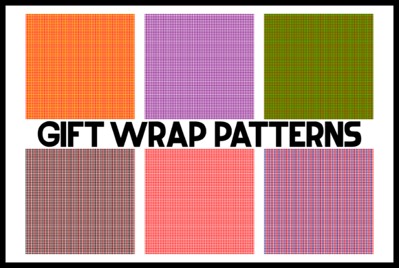 Print on Demand: Gift Wrap Patterns Graphic Backgrounds By colorsplash