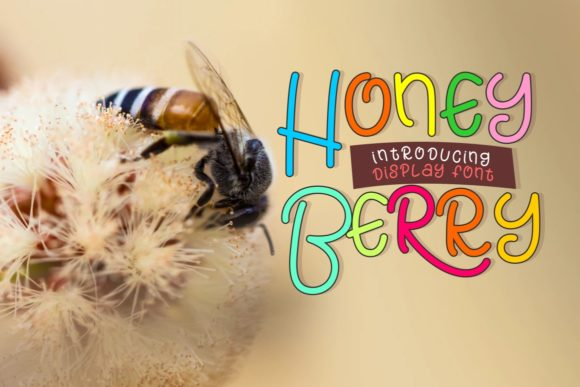 Print on Demand: Honey Berry Display Font By putracetol - Image 1