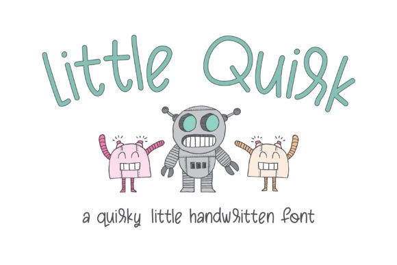 Print on Demand: Little Quirk Script & Handwritten Font By browncowcreatives