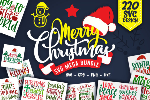 Print on Demand: Christmas Design Mega Bundle Graphic Crafts By OrinDesign