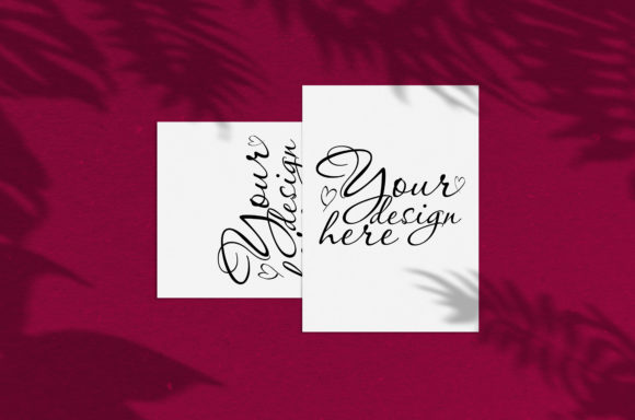 Print on Demand: Modern Mock Up with Palm Shadows Graphic Product Mockups By Natalia Arkusha