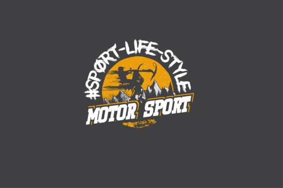 Motor Sport Logo Mascot Graphic Illustrations By AwesomeGraphic