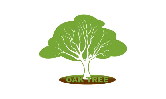Download Free Green Creative Oak Tree Logo Design Graphic By Deemka Studio for Cricut Explore, Silhouette and other cutting machines.