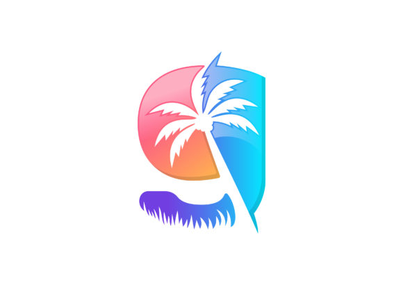Download Free G Letter Palm Tree Vector Logo Template Graphic By Laks Mi for Cricut Explore, Silhouette and other cutting machines.