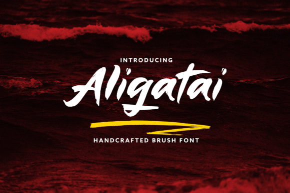 Print on Demand: Aligatai Script & Handwritten Font By Juncreative