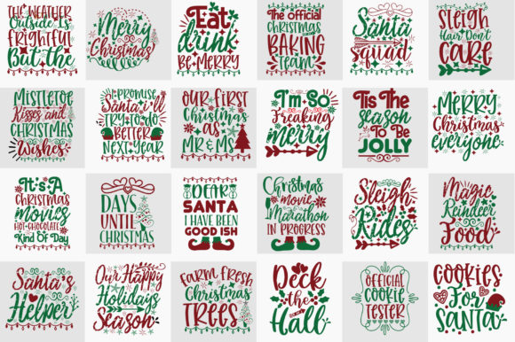 Download Free Christmas Design Mega Bundle Graphic By Orindesign Creative for Cricut Explore, Silhouette and other cutting machines.