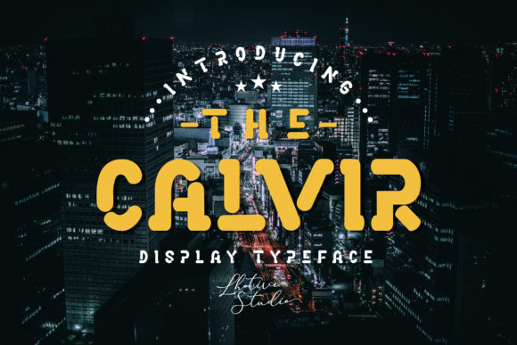 Print on Demand: Calvir Display Font By lhotive
