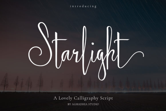 Print on Demand: Starlight Script & Handwritten Font By Aghadhia Studio