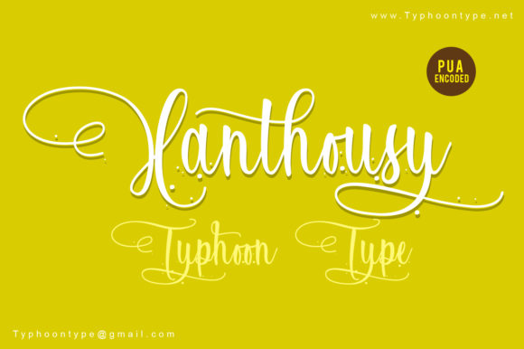 Print on Demand: Xanthousy Manuscrita Fuente Por Typhoon Type - Suthi Srisopha