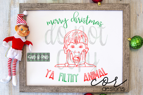 Print on Demand: Merry Christmas Ya Filthy Animal Graphic Crafts By designscor