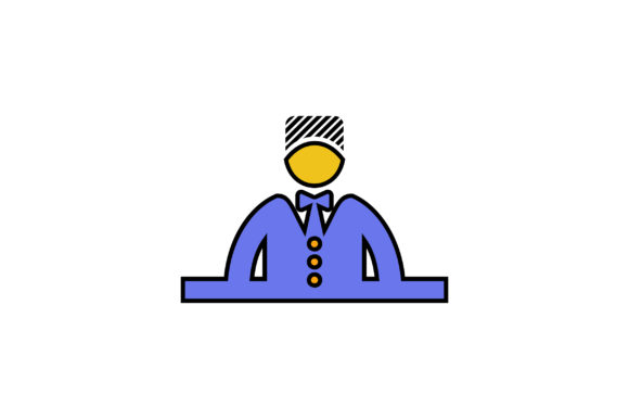 Download Free Hotel Receptionist Liner Fill Icon Graphic By Riduwan Molla for Cricut Explore, Silhouette and other cutting machines.
