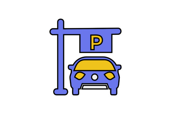 Download Free Car Parking Liner Fill Icon Vector Graphic By Riduwan Molla for Cricut Explore, Silhouette and other cutting machines.