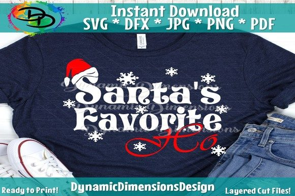 Print on Demand: Santas Favorite Ho Graphic Crafts By dynamicdimensions - Image 1