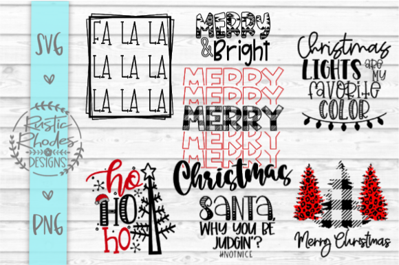 Christmas SVG and PNG Bundle Gráfico Crafts Por samantharhodes14