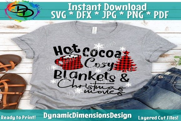 Print on Demand: Hot Cocoa, Christmas Movies Graphic Crafts By dynamicdimensions - Image 1